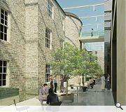 The garden space is intended to be sympathetic to the adjacent Charlotte Square plans