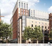 Design amendments include the replacent of brick cladding on the Clayton Hotel