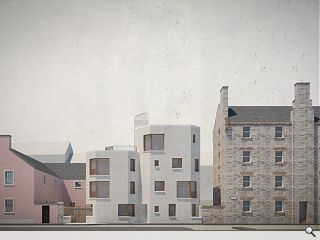 Masonry monolith to rise from secluded Edinburgh workshop