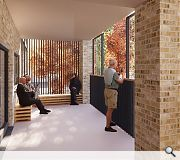 Emphasis is placed on generous communal spaces to encourage more collegiate living