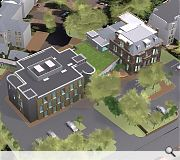 The new build will mimic the massing of a standalone villa when viewed from Colinton Road