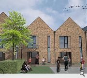 A simple palette of brick will blend into the surrounding townscape