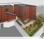 Private and communal garden spaces will be located to the rear