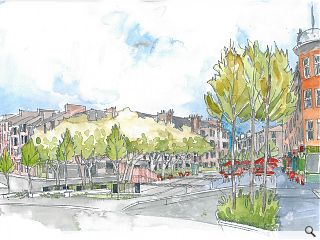 Erz lodge planning for Mount Florida public square