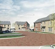 The new homes take the place of a disused primary school