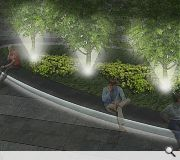 The setting of the crossroads will be enhanced with new landscaping