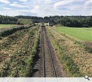 A shallow cutting at Dalcross has been identified to host the new station