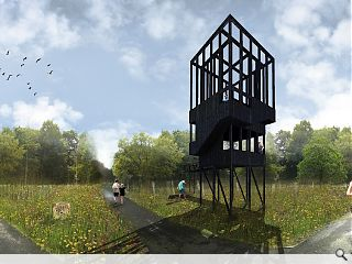 Work begins on Cuningar Loop lookout tower & bothy