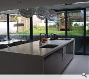 garden views are maximised from the open plan kitchen