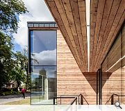 Larch cladding will weather down with age