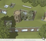 6m of earth will be dug out around the tower base to build new foundations and a family home