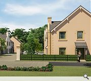 New homes will bound the under construction Ravelrig Heights development
