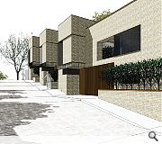 Properties will be faced in a combination of brick and corten steel