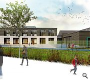 A proposed classroom wing at Muirfield Primary