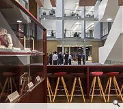 A cafeteria boosts ground floor interaction