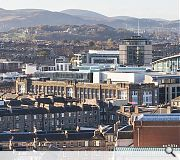 A skyline view of the scheme from Edinburgh Castle