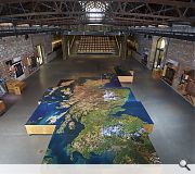 An interactive map lies at the heart of the Engine Shed