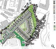A block of flats will mark the entrance to the development off Neilston Road