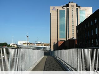 Half-finished Glasgow footbridge opens 40 years late