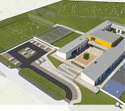 Synthetic sports pitches will be built in the school grounds