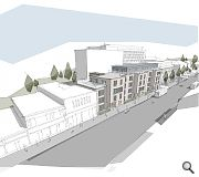 Residential development is transforming this stretch of Gorgie Road