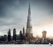 London's emerging cluster of talls are shown who is boss by the commanding presence of the Burj Khalifa