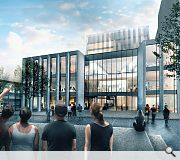 A new entrance space will be carved from the Hive building