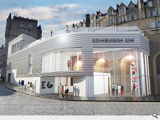 Edinburgh Gin display overarching ambition
