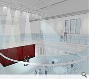 The existing town hall will be converted to an event and exhibition space