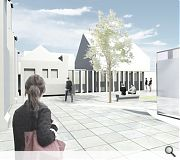 An artists impression of the planned cloister garden