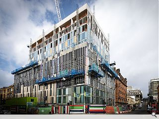 £20m city centre student build tops out