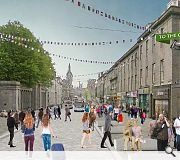 A section of Union Street would be pedestrianised and branded 'Heart of the City'