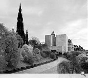 Keane's scheme was for a theatre on Edinburgh's Princes St, in the shadow of the Scott Monument