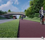 Dropped kerbs and toucan crossings will provide easy access for pedestrians and cyclists
