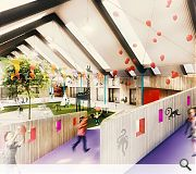 Interior play spaces will make full use of the roof volume
