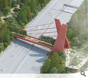 A landmark link bridge is proposed to better knit Sighthill into the city centre