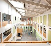 The new school provides in excess of 13,500sq/m of floorspace