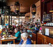 Refurbished shops and cafes have proved a hit