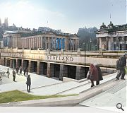 A landscaped terrace will lead up to the revitalised gallery