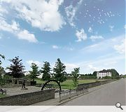 New homes will maintain a respectable distance from a local mining memorial