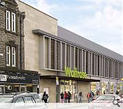 The shopfront will be broken by structural columns with a low canopy defining the entrance.