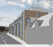The student flats will rise opposite Craigmillar golf course
