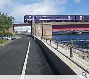 A flood alleviation scheme on the River Ness by Mott MacDonaldm Coffey Group, Morgan Sindall, McLaughlin & Harvey Construction was praised for turning a practical solution into a broader asset