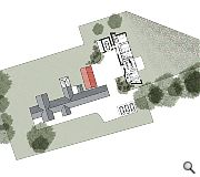 A new courtyard will be formed around the existing farm house and barn