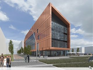 Clyde Gateway lodge plans for Shawfield office block
