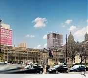 A feature tower will signal the lane infill from George Square