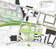 A landscape masterplan will encourage activation with a variety of new through routes and green spaces
