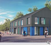 Grey fibre cement wall cladding and coloured panels will be used at Clermiston