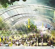 Team two's submission formalises natural terracing into a sunken amphitheatre