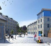Cobbled streets will be retained to preserve the areas industrial character